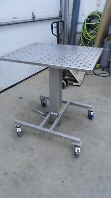 Stainless Steel Hydraulic Lift Table 30 X 36 Top 40.5 Min 56.5 Max Height