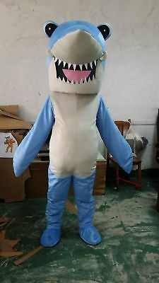 Cute【TOP SALE】Shark Show Mascot Costume Fancy Dress Outfit Adult Size Mascot hot - Cute Shark Costume