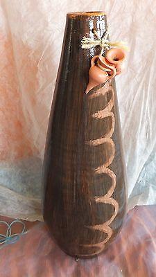 JARRÓN de barro, decorado. 50 cms. de alto. Modelo Moyolehuani