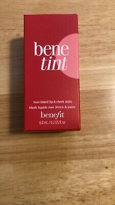 Benefit Bene-Tint Rose Tinted Lip & Cheek Stain 0.2 OZ/6.0 ml **100% Authentic** Benetint Lip Stain
