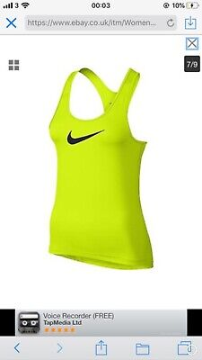Womens Nike Pro NP Cool Tank Top Dri-FIT Vest Run Sport Yoga Gym Ladies Large