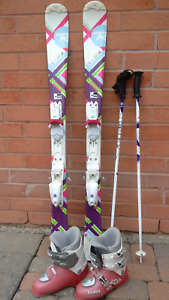 Girls Skis, Boots and Poles