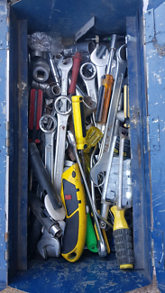 Old toolbox with tools