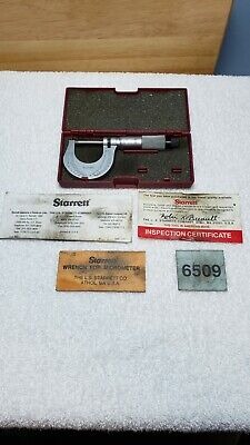 Starrett Outside Micrometer 0-1 Range 0.0001 Grad-t230xrl Tl001