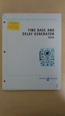 Hp Time Base And Delay Generator 1821a Operating And Service Manual Oem 6f B4
