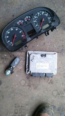 MK4 GOLF GTI 1.8T AGU ECU, SPEEDO CLOCKS KEY IGNITION BARREL 06A906018CG