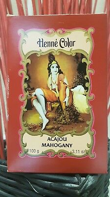 Henna Henné Color Pflanzenhaarfarbe Pulver Acajou (Mahogany) 100 g - Color Henna Pulver