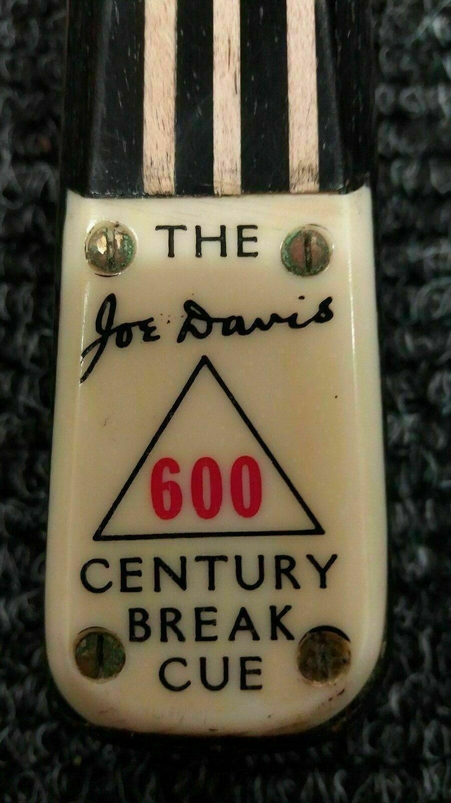 JOE DAVIS (ANTIQUE) 600 CENTURY BREAK SNOOKER CUE - 600