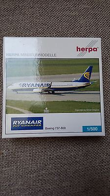 Herpa 501491 Ryanair B 737 800 1 500 Very Rare New