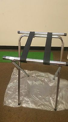 Tray Stand 32 Chrome Tubular Restaurant Folding Metal One Each Heavy Duty