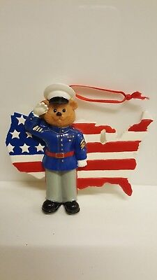 US Marines Personalized Christmas Tree Ornament Holiday