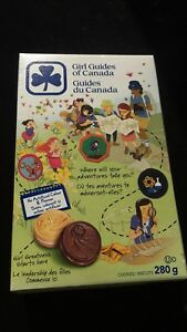 Chocolate and vanilla Girl Guide Cookies