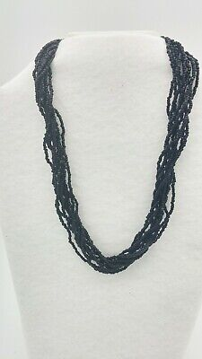Black Seed Beed Necklace 19