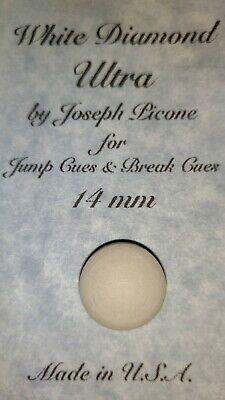 Great for Break /& Jump Cues MAKO Crystal Pool Cue Tip Hard 14MM