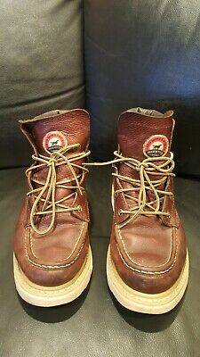 """RED WING Irish Setter 9 D Ashby 6"""" Brown Leather Soft Toe Boots 83605 Men's"""