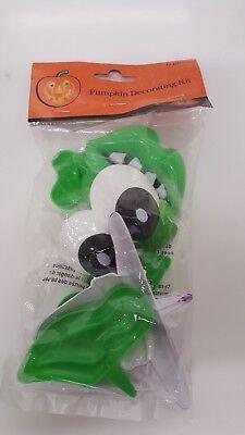 Halloween Witch Pumpkin Decoration Kit NO CARVING Purple October Fall Craft Fun