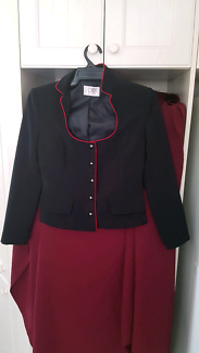 Ladies Black Jacket Red trim
