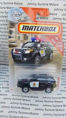 MATCHBOX FORD EXPLORER PURSUIT POLICE VEHICLE MBX RESCUE BLACK