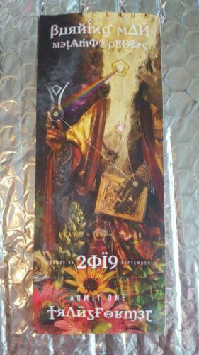 Burning Man Ticket 2019 Untorn Unused Black Rock City Playa Gift