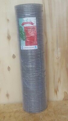 Aviary/Bird/Rat/Chinchilla/Ferret Galvanised Mesh Roll 1/2
