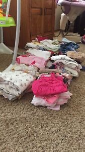Large lot of 0-6 month girls clothes