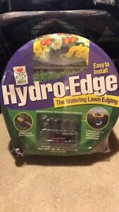 Watering lawn edging