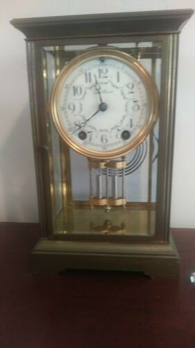 Gorgeous Antique Crystal Regulator, Brass, Seth Thomas