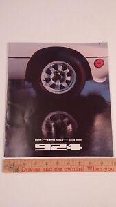 1978-PORSCHE-924-Color-Sales-Catalog-Very-Good-Condition-USA