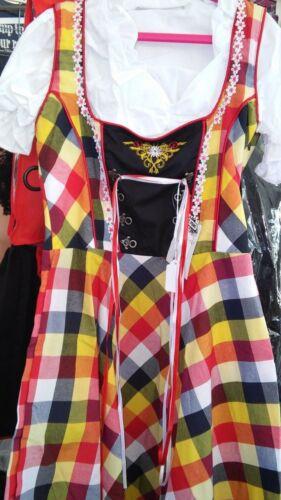 Girls,Kids,sz 6.Germany,German,Trachten,May,Oktoberfest,Dirndl Dress,3-pc.Multi