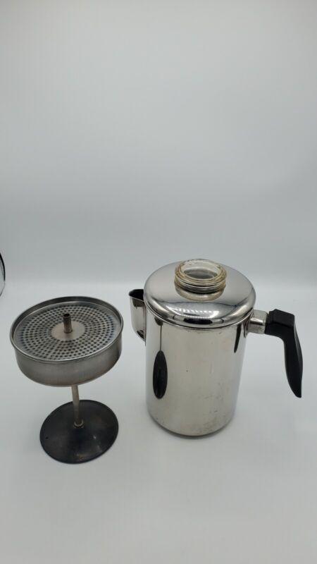 Vintage EKCO Flintware Stainless Steel 8 CUP Coffee Pot