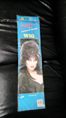 vintage Imagineering ELVIRA Mistress of the Dark long black WIG sealed Halloween