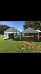Marquees, Trestle Tables, chairs, Wine Barrels, Festoon Lights Southern River Gosnells Area Preview