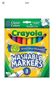 - Crayola 58-7808 Classic Colors Broad Line Washable Markers 8 Count