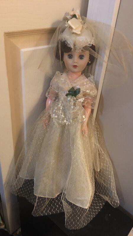 "18"" 1950's fashion bride doll.  All Original Clothing.  Very Good Shape."