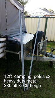 Camping poles/ roof braces Heddon Greta Cessnock Area Preview
