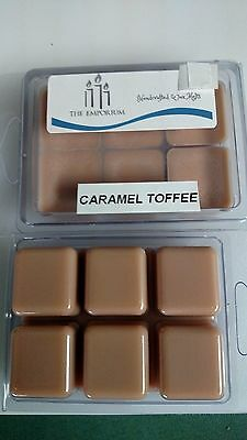 Soy Toffee ( Hand Made Soy Wax Melts - Break Away Clamshell 6 pack - Caramel Toffee flavor )