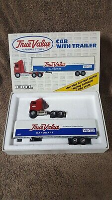 ERTL  True Value Hardware Cab Over Semi w Trailer 1:64 Scale Die-Cast Tractor  for sale  Shipping to Canada