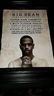 Big Sean Dark Sky Paradise Rare Grammy Consideration Promo Poster Ad Framed!