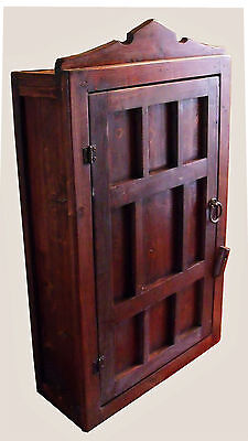 Handmade Rustic Moroccan Boho Style Natural  Wood Wal Mount Cabinet