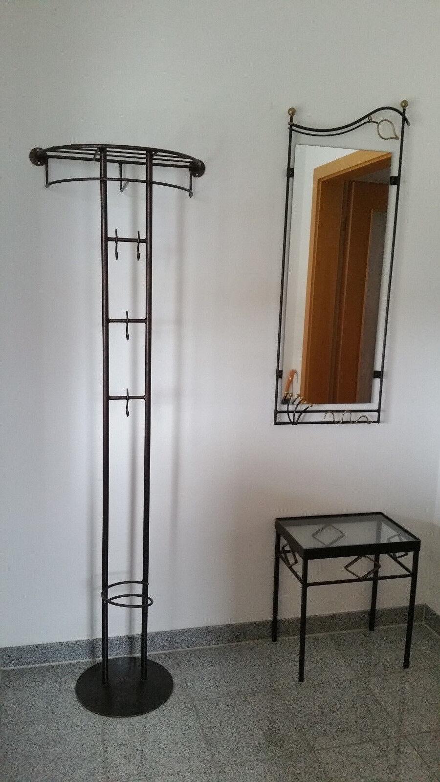 Kleiderständer Schirmständer Hutablage Spiegel Tisch Dielenmöbel GarderobeMetall