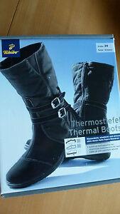 TCM Tchibo Thermostiefel Winterstiefel Stiefel Antifrost-Sohle Gr. 39 NEU OVP