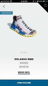 "adidas Human Race NMD ""Pharrell Pink SolarPack"" size 9"
