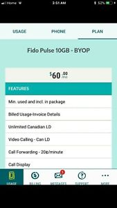 Selling my Fido plus plan with 10gb $60