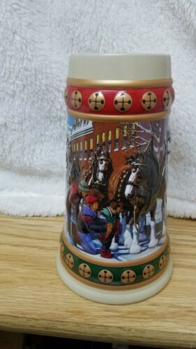 "1994 Budweiser ""Hometown Holiday"" Beer Stein/mug/cup"