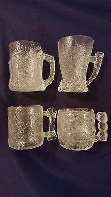 MCDONALDS FLINTSTONES GLASSES 1993 (SET OF 4) NEW