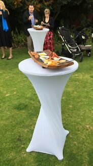 Cocktail table hire $20.00 free covers