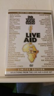 Live Aid Limited Edition  4 Dvd Set Wembley Cambridge Area Preview