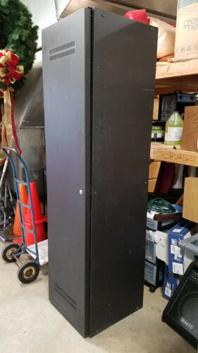 "AUDIO / ELECTRONICS / SERVER RACK CABINET: 19"" Full Size Stand Alone w/ Door"