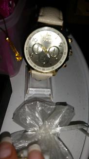 White & Gold Geneva Watch Brand new