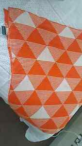 Morgan and Finch throw - orange triangles Rhodes Canada Bay Area Preview